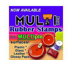 Multi-Surface Rubber Stamps